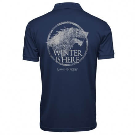 Winter Is Here - Game Of Thrones Official Polo T-shirt