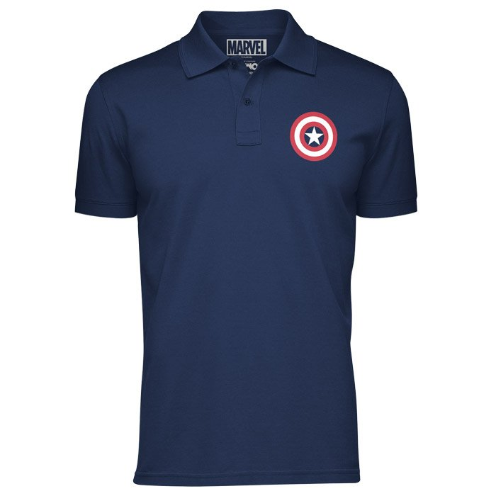 Captain America: Shield - Marvel Official Polo T-shirt