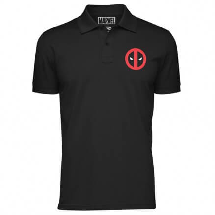 Deadpool Logo (Pocket Print) - Marvel Official Polo T-shirt