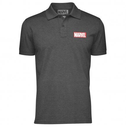 Marvel Logo (Pocket Print) - Marvel Official Polo T-shirt