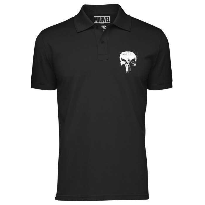 The Punisher Skull (Pocket Print) - Marvel Official Polo Shirt