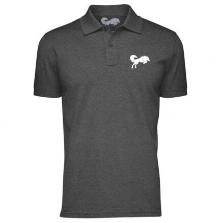 Classic Redwolf Pocket Logo (Heather Black) - Polo T-shirt