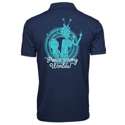 Peace Among Worlds - Rick And Morty Official Polo T-shirt
