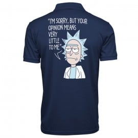 Rick's Opinion - Rick And Morty Official Polo T-shirt