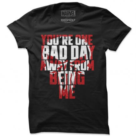 One Bad Day Away - Marvel Official T-shirt