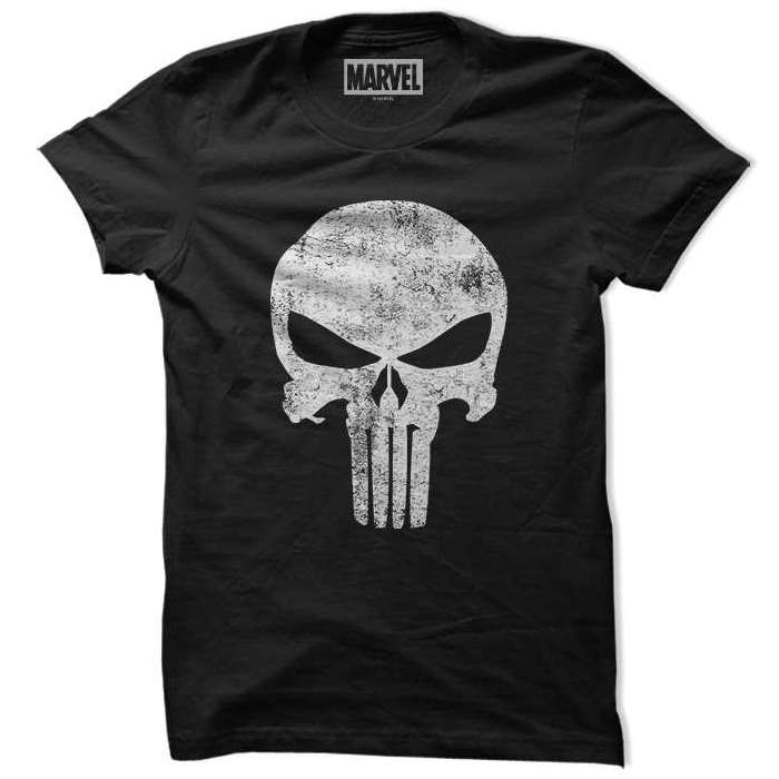 Punisher Logo (Glow In The Dark) - Marvel Official T-shirt