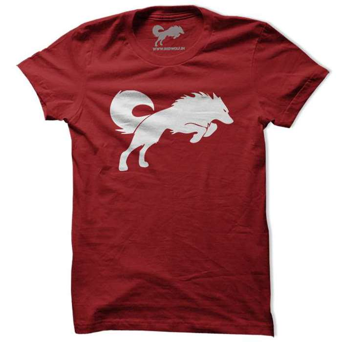 Classic Redwolf Tee (White/Red)
