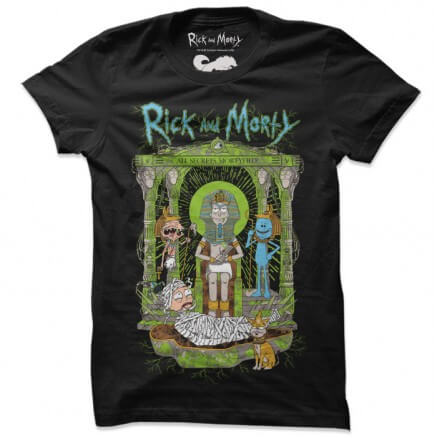 All Secrets Mortyfied - Rick And Morty Official T-shirt