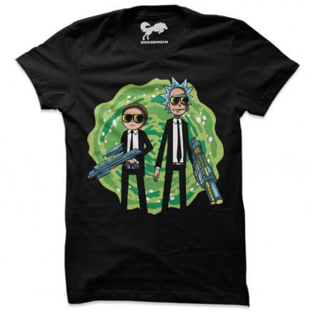 Black Suits Comin' - Rick And Morty Official T-shirt