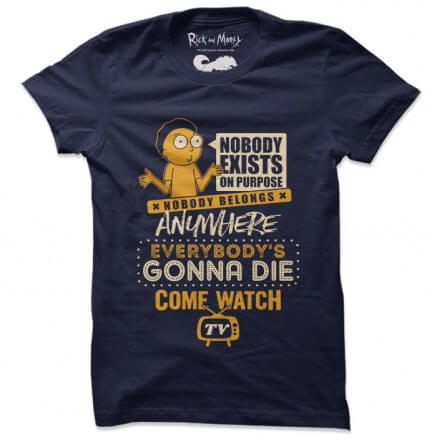 Come Watch TV - Rick And Morty Official T-shirt