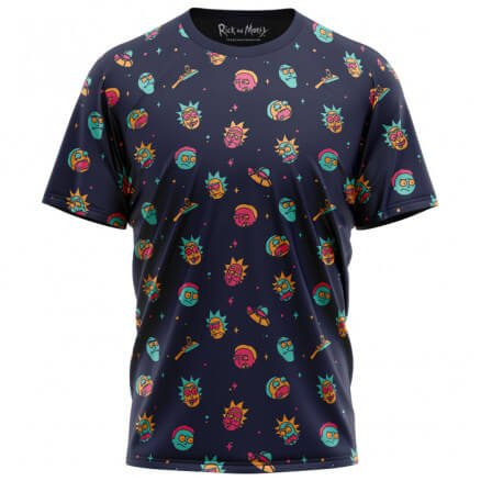 Rick And Morty Pattern - Rick And Morty Official T-shirt