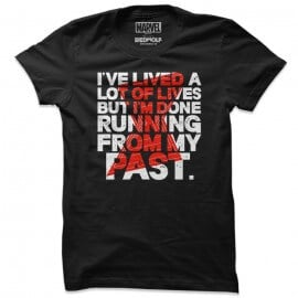 Running From My Past - Marvel Official T-shirt