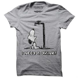 I Need A Drink - Peanuts Official T-shirt