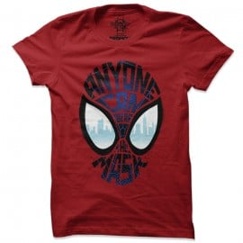 Anyone Can Wear A Mask - Marvel Official T-shirt