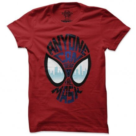 Anyone Can Wear The Mask - Marvel Official T-shirt