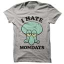 Squidward: I Hate Mondays - SpongeBob SquarePants Official T-shirt