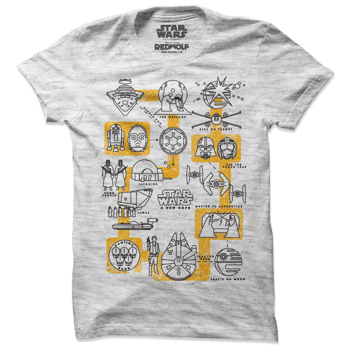 A New Hope Pictogram - Star Wars Official T-shirt