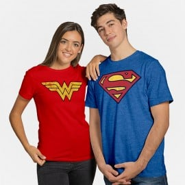 Couple Tees: Superman And Wonder Woman - DC Comics Official T-shirt