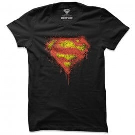 Superman: Logo Splatter - Superman Official T-shirt