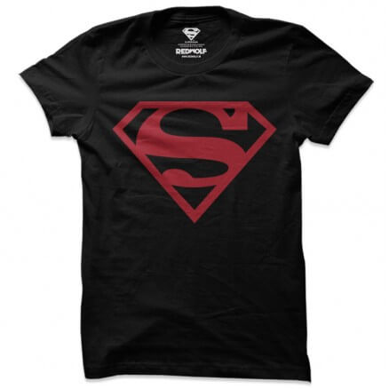 Black Superman Logo - Superman Official T-shirt