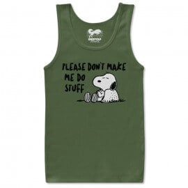 Don't Make Me Do Stuff - Peanuts Official Tank Top