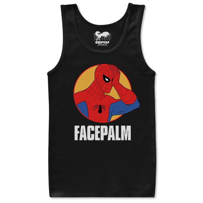Spider-Man Facepalm - Marvel Official Tank Top