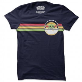 The Child: Retro Stripes - Star Wars Official T-shirt