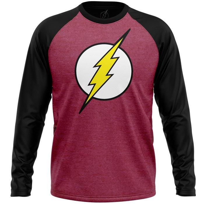 The Flash: Classic Logo - The Flash Official Full Sleeve T-shirt