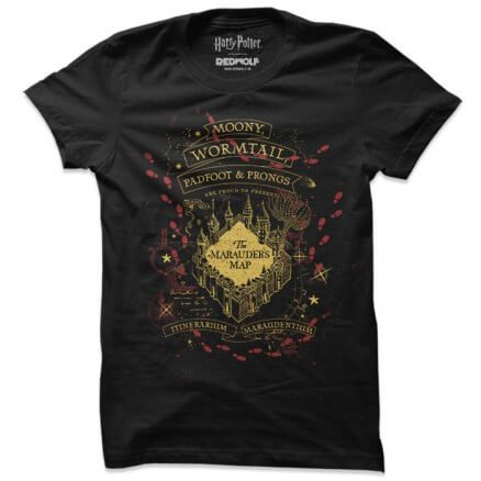 The Marauder's Map - Harry Potter Official T-shirt