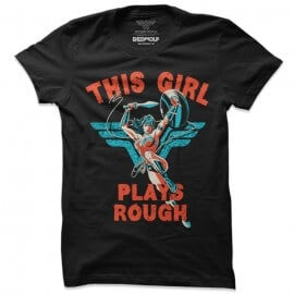 This Girl Plays Rough - Wonder Woman Official T-shirt