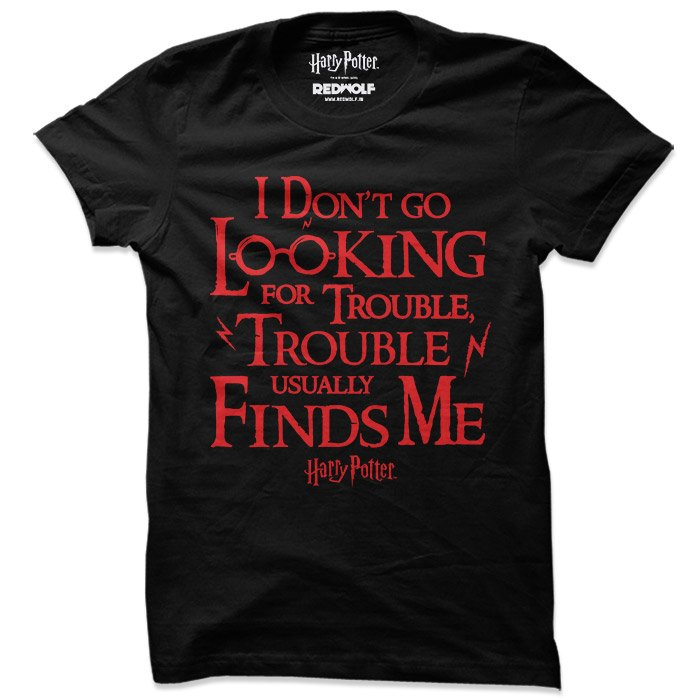 Trouble Finds Me - Harry Potter Official T-shirt