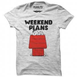 Weekend Plans - Peanuts Official T-shirt