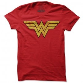 Wonder Woman: Retro Logo - Wonder Woman Official T-shirt