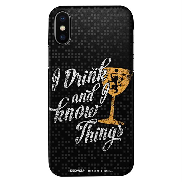 I Drink And I Know Things: Black - Game Of Thrones Official Mobile Cover