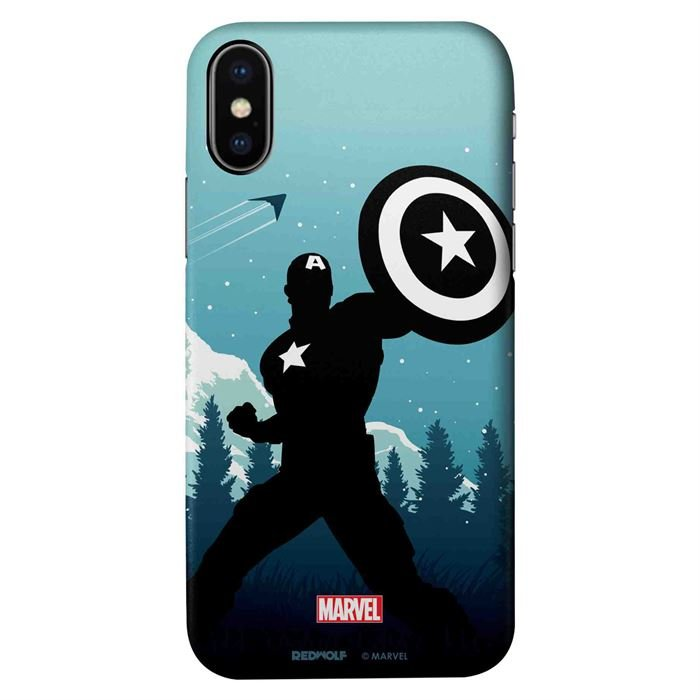 Captain America Silhouette - Marvel Official Mobile Cover