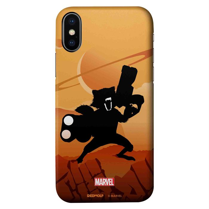 Rocket Racoon Silhouette - Marvel Official Mobile Cover