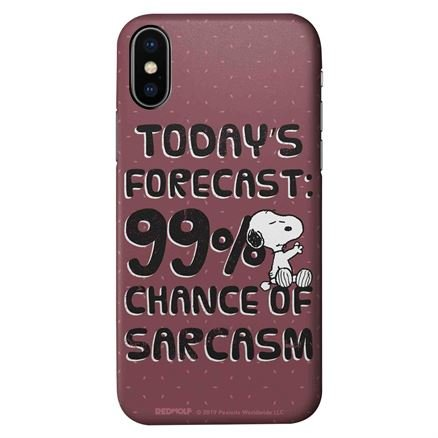 99% Chance Of Sarcasm - Peanuts Official Mobile Cover