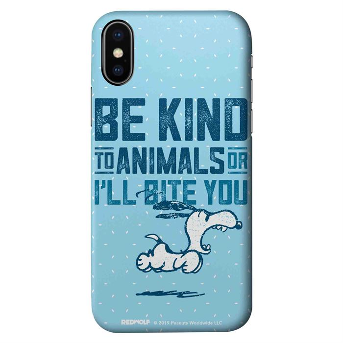 Be Kind To Animals - Peanuts Official Mobile Cover