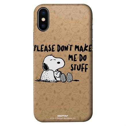 Don't Make Me Do Stuff - Peanuts Official Mobile Cover