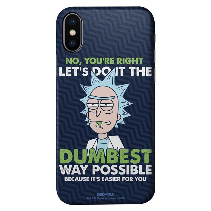 Dumbest Way Possible - Rick And Morty Official Mobile Cover