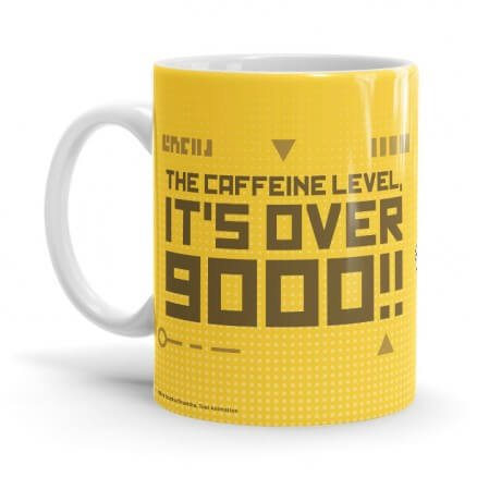 Caffeine Level: Over 9000 - Dragon Ball Z Official Mug