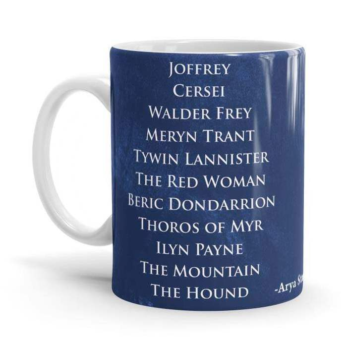 Arya's List - Game Of Thrones Official Mug