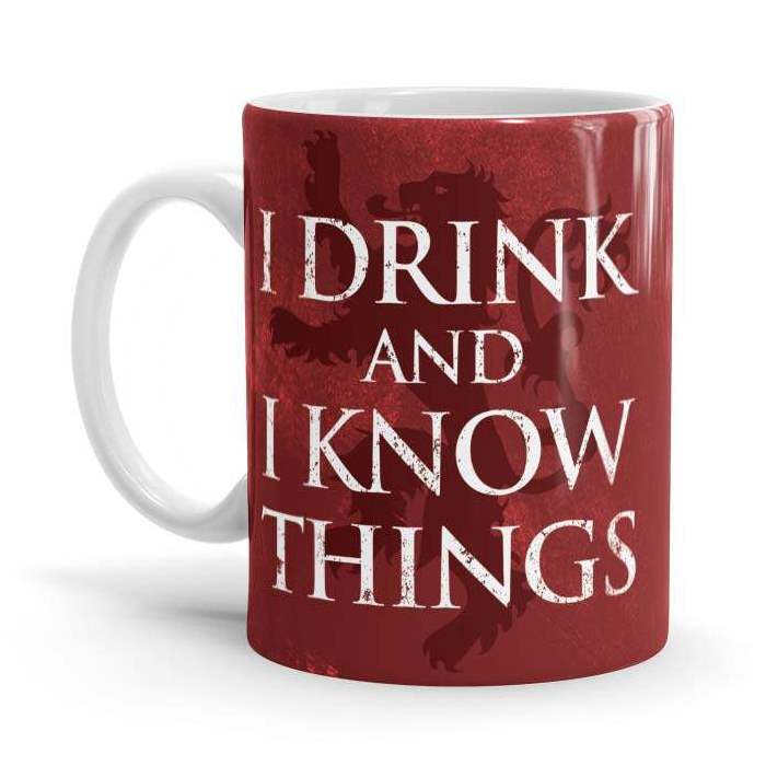 I Drink And I Know Things: Red - Game Of Thrones Official Mug