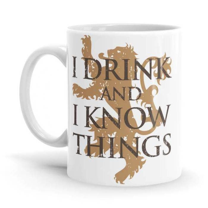 I Drink And I Know Things - Game Of Thrones Official Mug