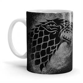 House Stark Sigil Splatter - Game Of Thrones Official Mug