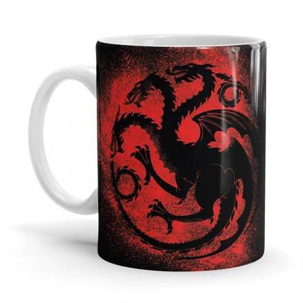 House Targaryen Sigil Splatter - Game Of Thrones Official Mug
