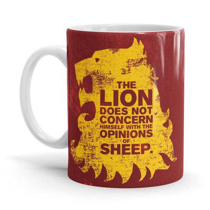 The Lion And The Sheep - Game Of Thrones Official Mug