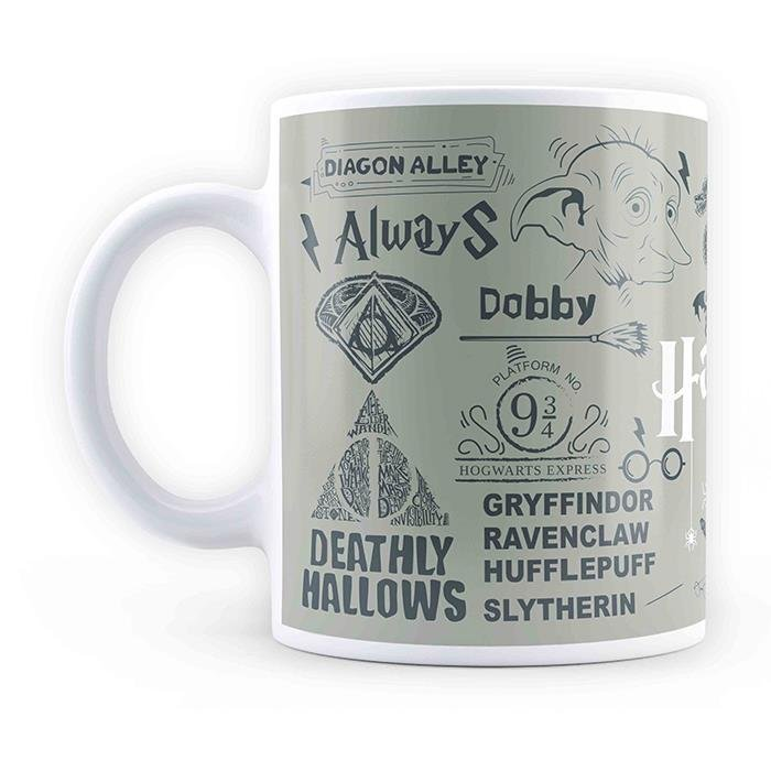 Harry Potter: Infographic - Grey Mug