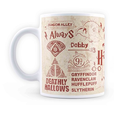 Harry Potter: Infographic - Red Mug