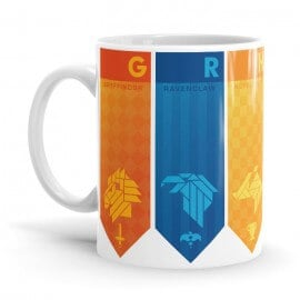 Hogwarts House Flags - Harry Potter Official Mug